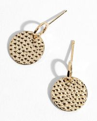 Jigsaw - Hammered Disc Earrings - Lyst