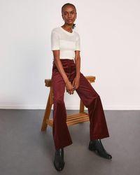 Jigsaw Wide Leg Velvet Trouser - Multicolour