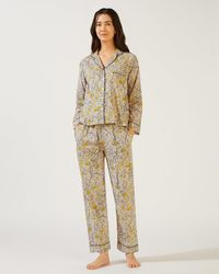 Jigsaw - Aurora Printed Cotton Pyjamas - Lyst