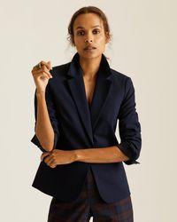 Jigsaw Paris One Button Suit Jacket - Blue