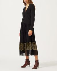 Jigsaw - Tulle And Lace Skirt - Lyst