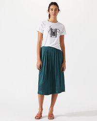 Jigsaw - Crocus Drape Skirt - Lyst
