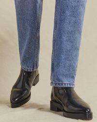 Jigsaw Skye Ankle Boot Leather - Black