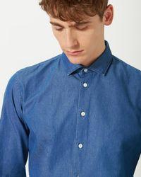 Jigsaw - Bloomsbury Italian Washed Denim Slim Fit Shirt - Lyst