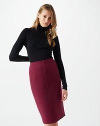 Jigsaw - Boiled Wool Pencil Skirt - Lyst