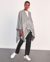 Jigsaw Stripe Cape Wool Blend - Grey