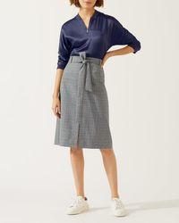 Jigsaw - Mono Check Skirt - Lyst