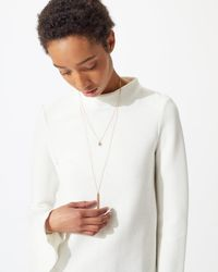 Jigsaw Layered Long Necklace - Multicolour