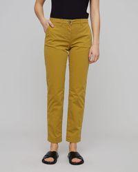 Jigsaw Slim Leg Cotton Chino Trouser - Multicolour