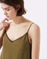 Jigsaw Lace Insert Camisole - Green