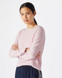 Jigsaw - Tipped Cotton Cashmere Crew - Lyst