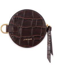 Jigsaw Talbot Round Purse Leather - Brown