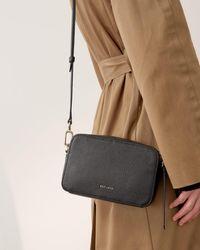 Jigsaw Farley Leather Crossbody Bag - Black