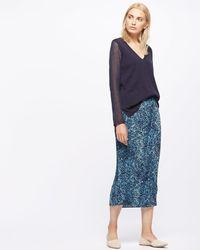 Jigsaw - Floral Pleat Midi Skirt - Lyst