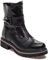 275 Central - 42068 Black Leather Boot - Lyst