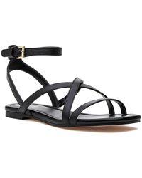 MICHAEL Michael Kors Tasha Leather Sandal - Black
