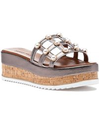 275 Central - 8815 Sandal Pewter Leather - Lyst