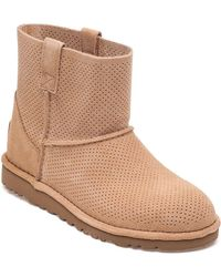 06f6ee7a2f4 UGG Suede Classic Short Sunshine Perf in Brown - Lyst