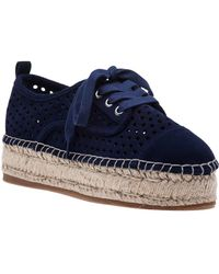 J/Slides - Rileyy Navy Suede Lace Up Espadrille - Lyst