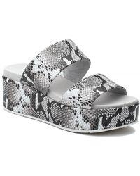 J/Slides Quincy Sandal Black/white Embossed - Multicolor