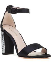Pelle Moda - Bonnie 3 Sandal Black Satin - Lyst