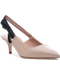 c8a8dab3ae1 Lyst - Kate Spade Molly Suede Low-heel Bow Pump in Blue