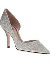 Sebastian - Ombre D'orsay Pump Silver/pewter Glitter - Lyst