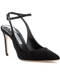 Brian Atwood - Vicky Pump Black Suede - Lyst