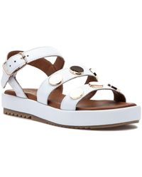 275 Central - 9000 Sandal White Leather - Lyst