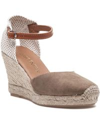 16803fb34f7 Lyst - Vc Signature Solanna Pointytoe Anklestrap Wedge Camel in Natural