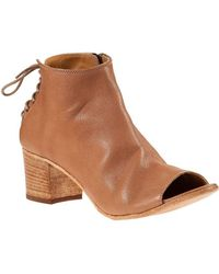 275 Central - Laced Back Bootie Cuoio Leather - Lyst
