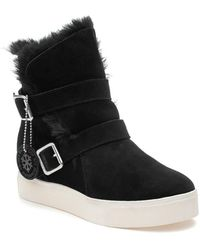 J/Slides Wells Boot Black Waterproof Suede