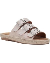 275 Central - Macao-p Espadrille Sandal Nude Suede - Lyst