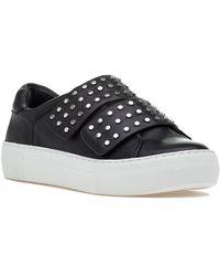 J/Slides - Accent Sneaker Black Leather - Lyst