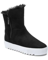 J/Slides Selene Boot Black Waterproof Nubuck