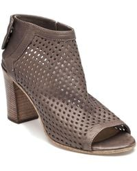 275 Central Perforated Bootie Taupe Leather - Brown