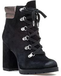 Sam Edelman | Carolena Boot Black Suede/pewter | Lyst