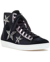 Lola Cruz - 200t65bk High Top Sneaker Black Velvet - Lyst