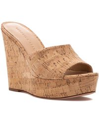 Veronica Beard Dali Wedge Slide Sandal - Natural