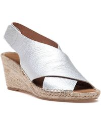 275 Central - Dinamic Silver Leather Wedge - Lyst