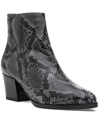 275 Central Lee Boot Gray Snake