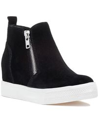 Steve Madden Wedgie Sneaker Black Suede