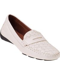 Robert Zur   Petra Penny Loafer White Leather   Lyst
