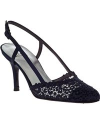 Stuart Weitzman | Lady Evening Pump Navy Lace | Lyst