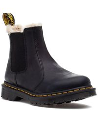 Dr. Martens - Leonore Boot Black Leather - Lyst