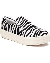 J/Slides Harry Sneaker Zebra Pony Hair - Multicolor
