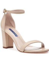 Stuart Weitzman Nearlynude Sandal Bambina Leather - Natural