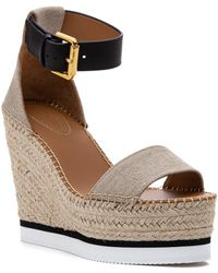 See By Chloé Glyn Espadrille Wedge Natural