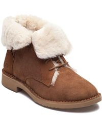 UGG - Quincy Chestnut Suede Lace Up Boot - Lyst