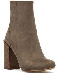 af0bee69bd6679 Lyst - Sam Edelman Tilden Faux Fur Lined Fringe Boots - Mocha Latte ...